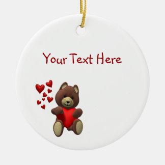 Cherished Teddy Bear - Customize It! Round Ceramic Decoration