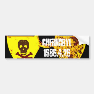 Chernobyl 25th year memorial bumper stickers