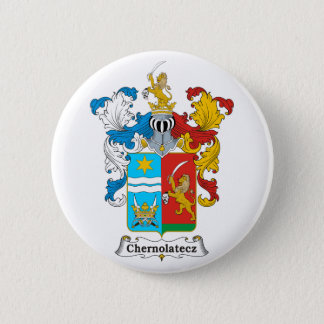 Chernolatecz Family Hungarian Coat of Arms 6 Cm Round Badge