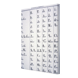 Cherokee Alphabet, developed in 1821 (print) Gallery Wrapped Canvas