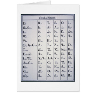 Cherokee Alphabet, developed in 1821 (print) Card
