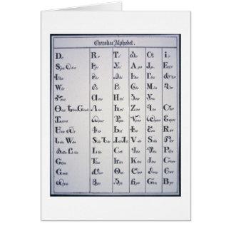 Cherokee Alphabet, developed in 1821 (print) Greeting Card