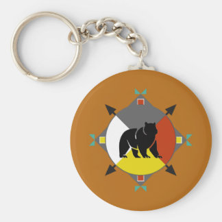 Cherokee Bear Four Directions Keychain