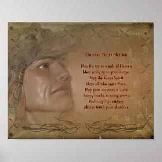 Cherokee  Blessing Native American Prayer Poster