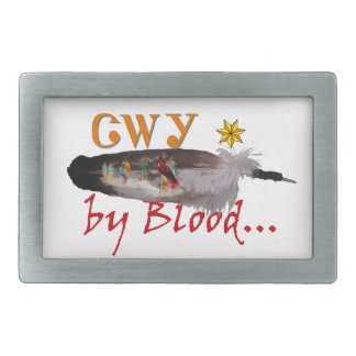 Cherokee by Blood Rectangular Belt Buckles