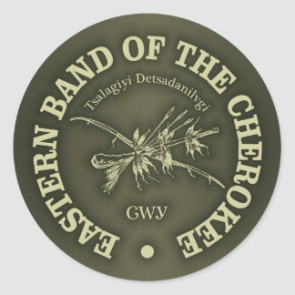Cherokee (Eastern Band) Classic Round Sticker