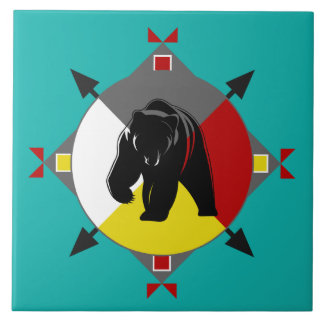 Cherokee Four Directions Bear Ceramic Tile