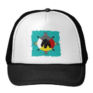 Cherokee Four Directions Bear Trucker Hat