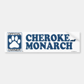 Cherokee Monarch Blue Bumper Sticker