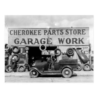 Cherokee Parts Store, 1936 Postcard