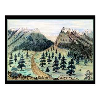 Cherokee Pass Rocky Mountains Postcard