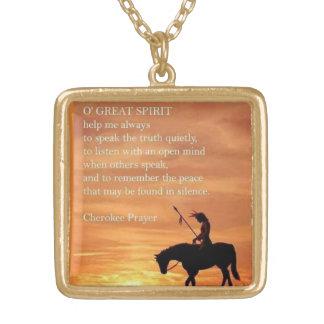Cherokee prayer necklace