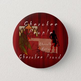 cherokee proud 6 cm round badge