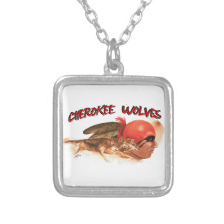 Cherokee Wolves Silver Plated Necklace