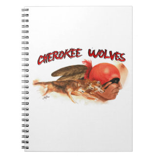 Cherokee Wolves Spiral Notebook