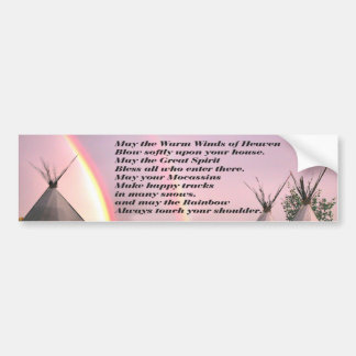 CherokeeBlessingRainbowPrayer Bumper Sticker