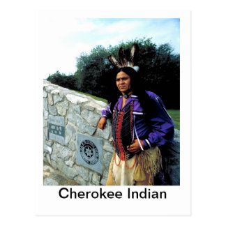 CherokeeNation, Cherokee Indian Postcard