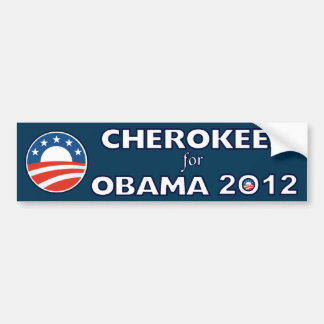 Cherokees For Obama 2012 Bumper Sticker