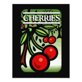 Cherries 11 Cm X 14 Cm Invitation Card