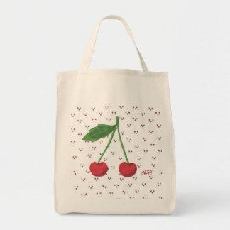 Cherries 2 grocery tote bag
