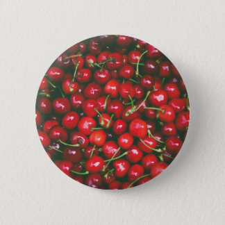 Cherries... 6 Cm Round Badge