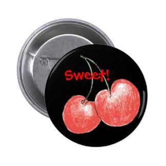 Cherries 6 Cm Round Badge