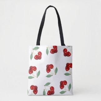 Cherries All Over Print Tote Bag