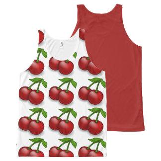 Cherries Anyone All-Over Print Singlet