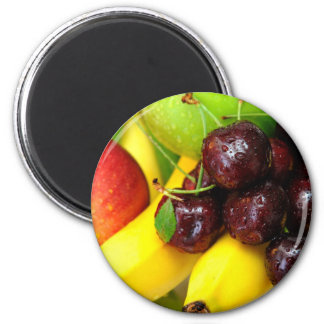 Cherries Bananas And Apples Fridge Magnet