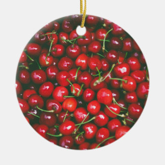 Cherries... Ceramic Ornament