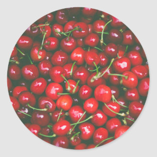 Cherries... Classic Round Sticker
