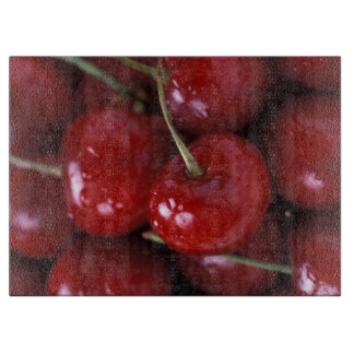 Cherries cutting board