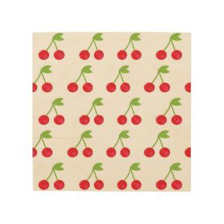 Cherries drawing on Wood Wood Wall Art