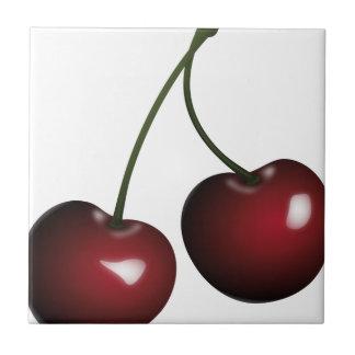 Cherries Drawing Tile