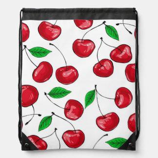 Cherries Drawstring Bag
