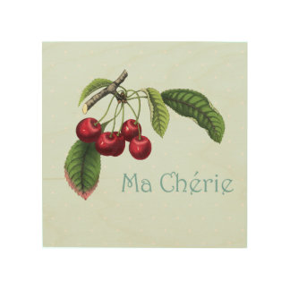 Cherries for your Sweetheart - Wooden Wall Art