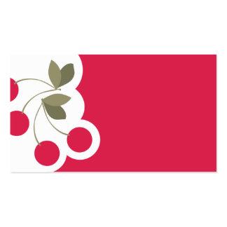 cherries fruit baker baking business card