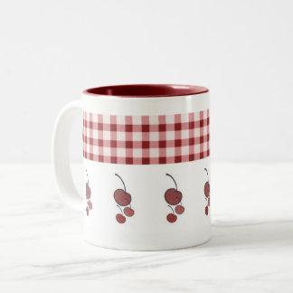 Cherries & Gingham Mug