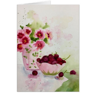 Cherries in a Bowl Card
