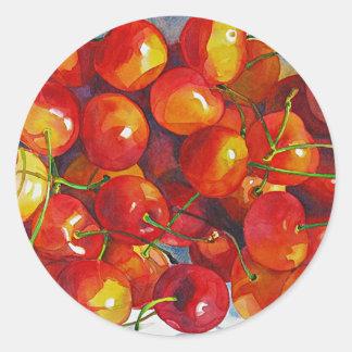 'Cherries Jubilee' Round Sticker