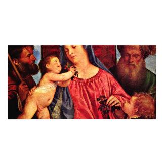 Cherries Madonna By Tizian (Best Quality) Custom Photo Card