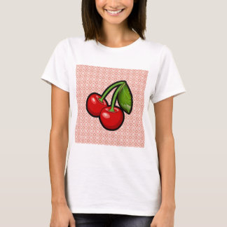 Cherries on Flower T-Shirt