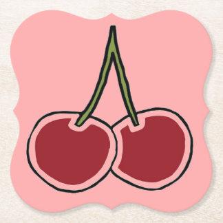 Cherries Paper Coaster