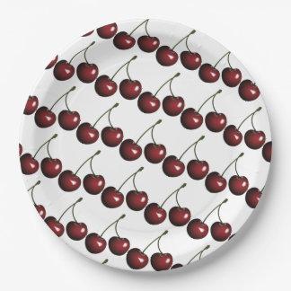 Cherries Paper Plate