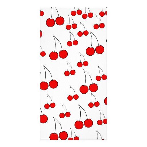 Cherries Pattern. Photo Cards