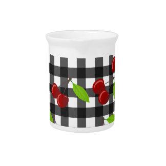 Cherries pattern pitcher