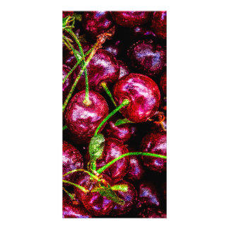 Cherries Personalised Photo Card