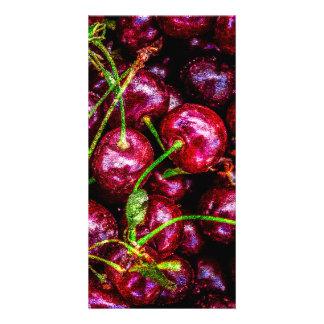 Cherries Personalised Photo Card