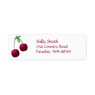 Cherries Return Address Label