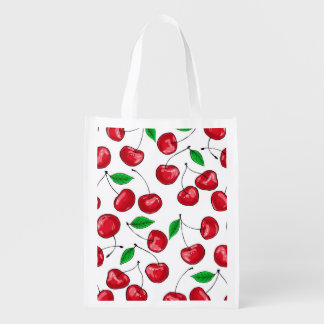 Cherries Reusable Grocery Bag